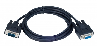 Cable: Serial, DB9 Male / DB9 female, Black, 6 ft